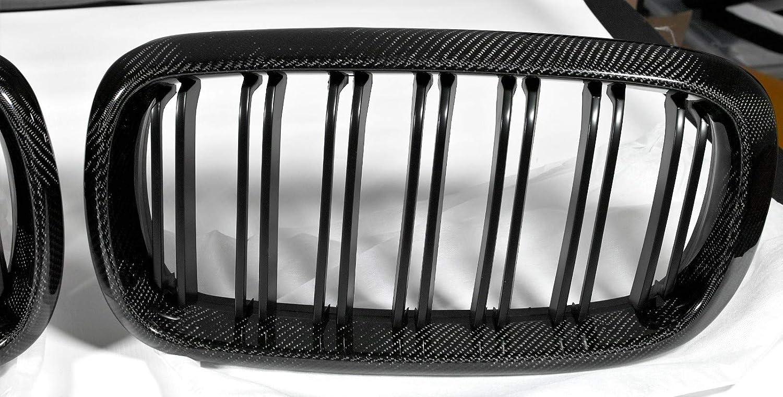 Nick /& Ben Grille de calandre en carbone v/éritable pour X5 X6 F15 F16 F85 F86 Noir mat