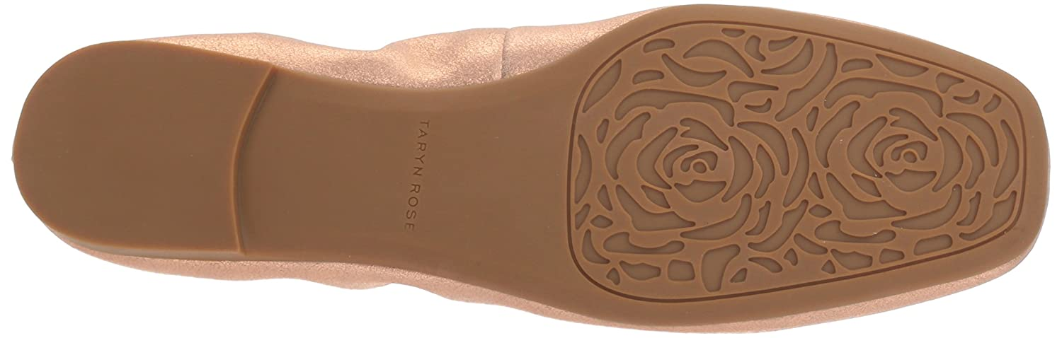 Taryn Rose Women's Rosalyn Powder Metallic Ballet Flat B074B5YQNK 11 M M US|Rose Gold