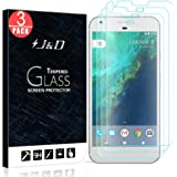 Google Pixel Screen Protector, J&D Glass Screen Protector [Tempered Glass] HD Clear Ballistic Glass Screen Protector for Google Pixel - Protect Screen From Drop and Scratch (3 Packs)