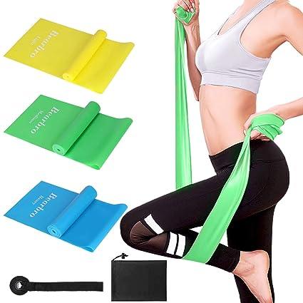 Bearbro Bandas Elasticas Fitness, Cintas Elasticas Fitness con 3 Niveles de Resistencia, Resistencia Bandas de Ejercicios para Yoga, ...