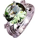 Psiroy Women's 925 Sterling Silver 6.5ct Gemstone Filled Ring