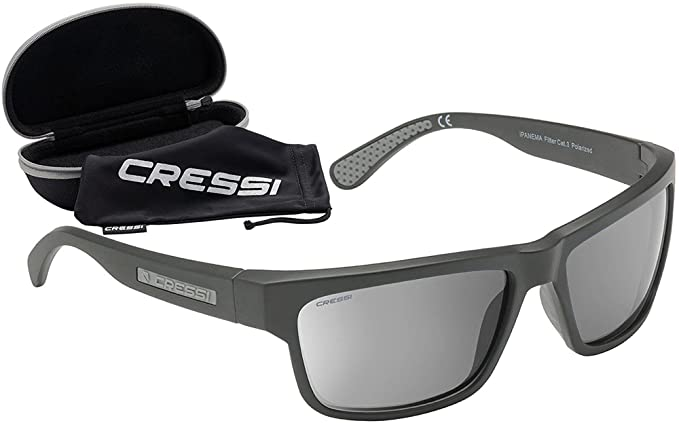 Cressi Nevada Sonnenbrille, Silber/Blau Linses, One Size