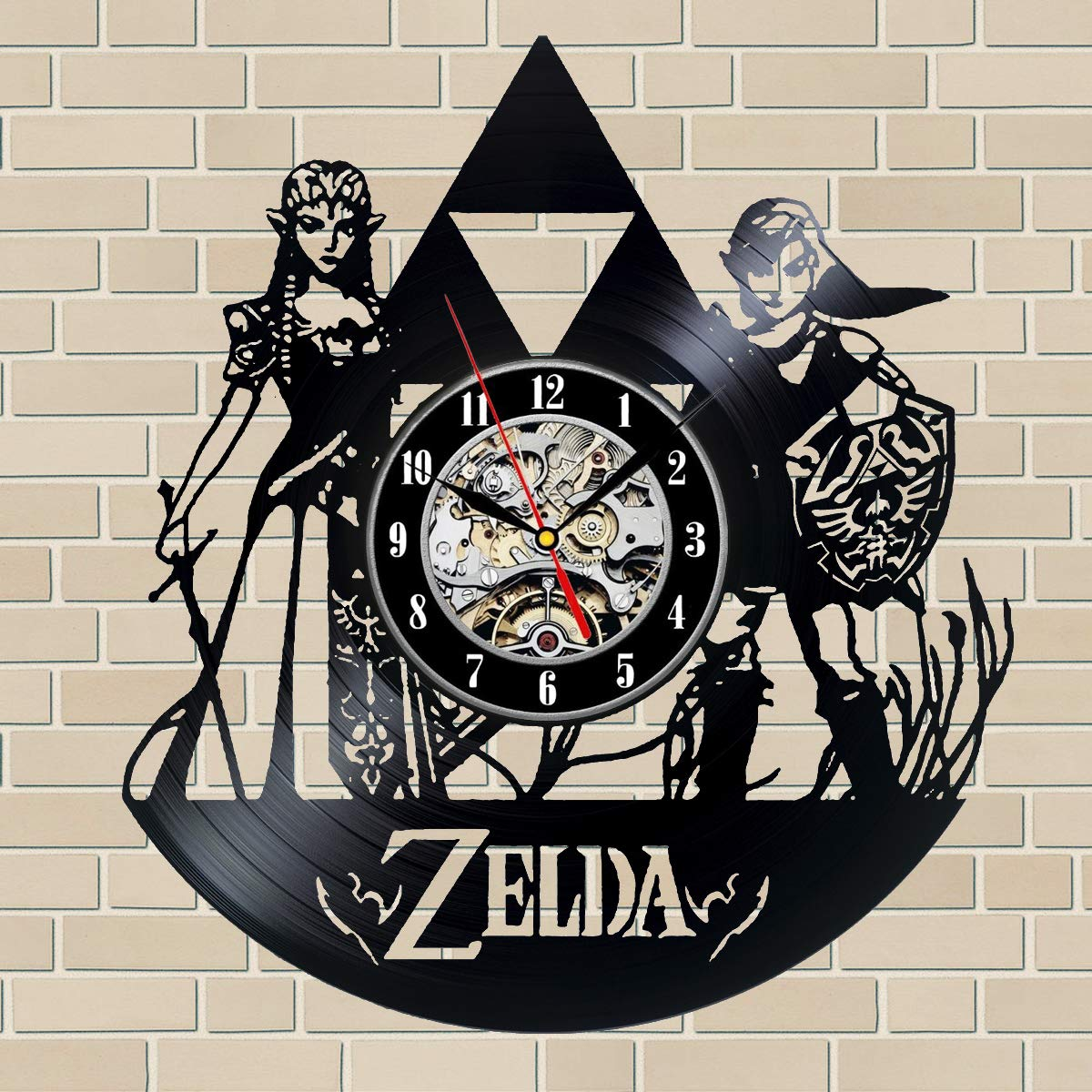 The Legend of Zelda Video Game Series Vinyl Record Wall Clock Decor for Home Best Gift for Any Events Gift for Him Gift for Her