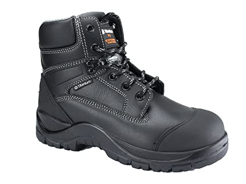 Titanium Leather Safety Working Boots w/Composite Toe Cap & Moulded Scuff Cap, Thinsulate