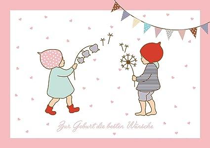 Tarjeta de felicitación para nacimiento de gemelos para niñas y ...