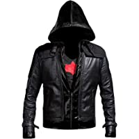 Cup Of Fashion Batman Arkham Knight Leather Jacket + Vest 2 in 1