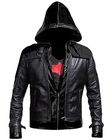 Batman Arkham Knight Leather Jacket - Black + Vest 2 in 1