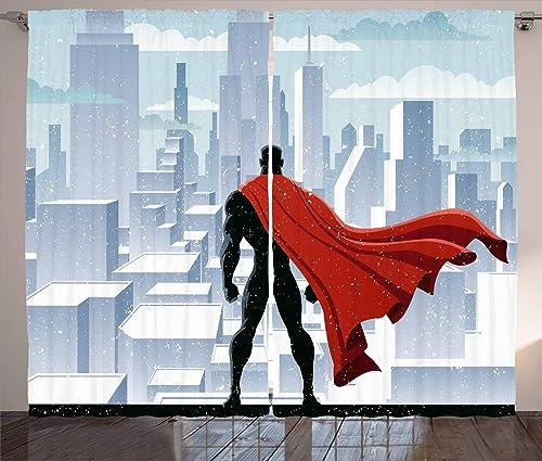 Ambesonne Superhero Curtains