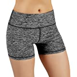 ODODOS by Power Flex Yoga Shorts for Women Tummy Control Workout Running Shorts Pants Yoga Shorts With Hidden Pocket