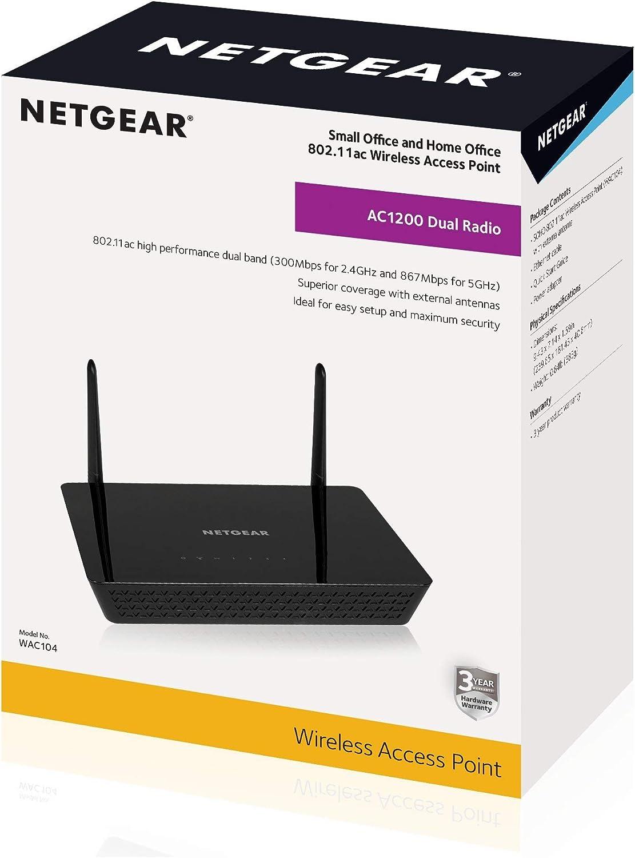 NETGEAR AC1200 Dual Band Wireless Access Point WAC104 Renewed ...