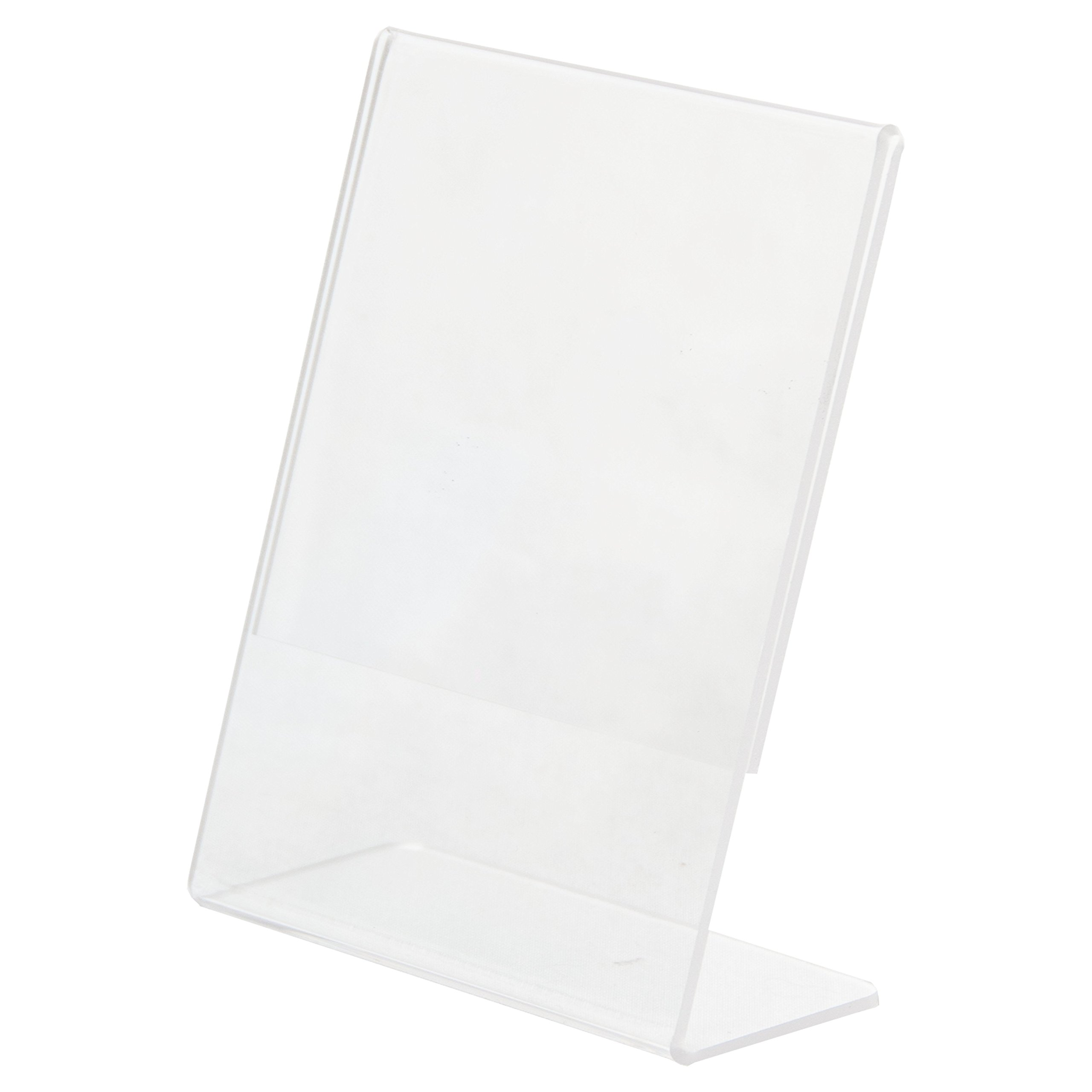 Clear-Ad - LHA-46 - Acrylic Slanted Sign Holder 4x6 - Plexiglass Table Menu Card Display Stand - Plastic Picture Frame Wholesale (Pack of 100) by Clear-Ad (Image #3)