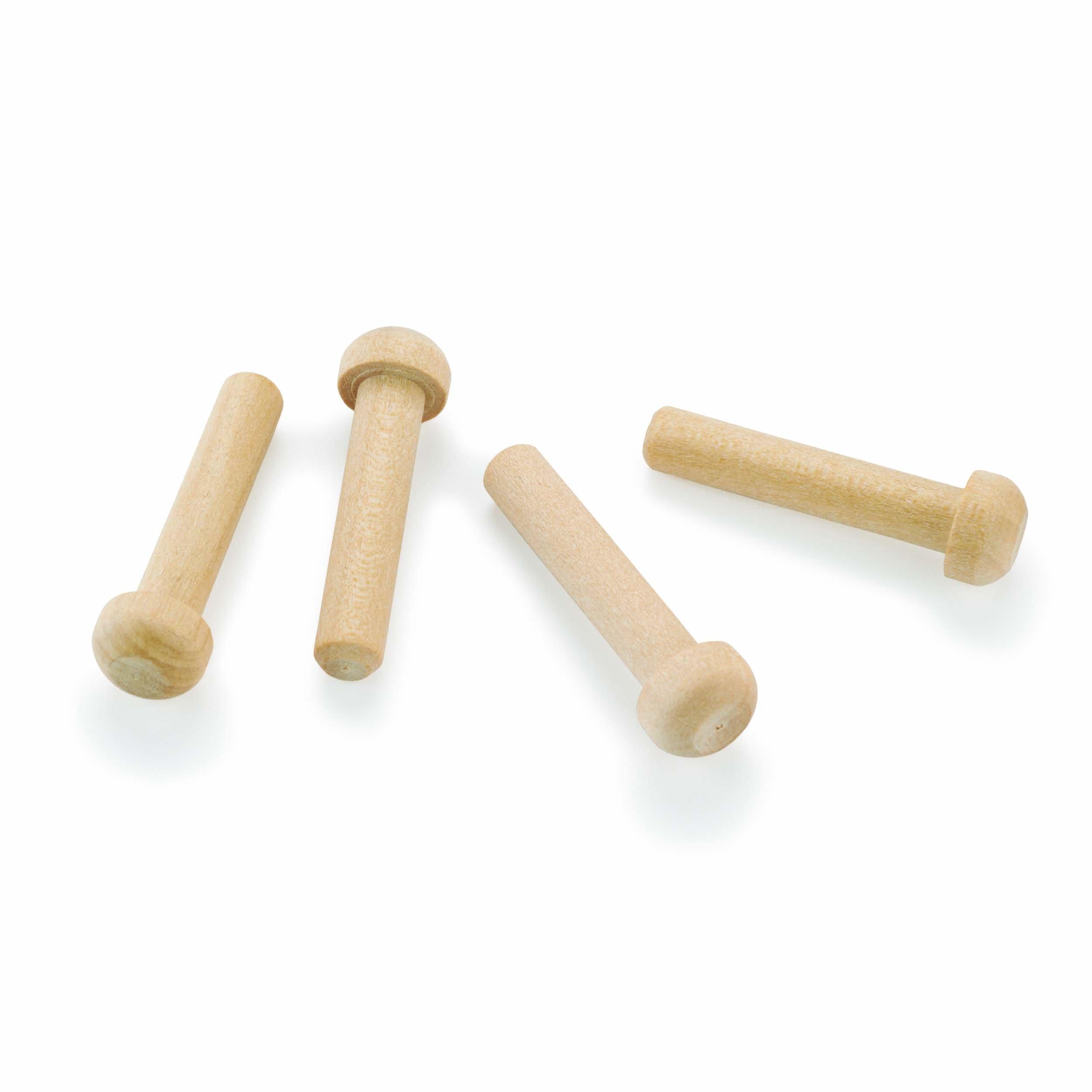 Axle Pegs 7/32'' Diameter x 1-3/16'' Long, Maple 8-piece