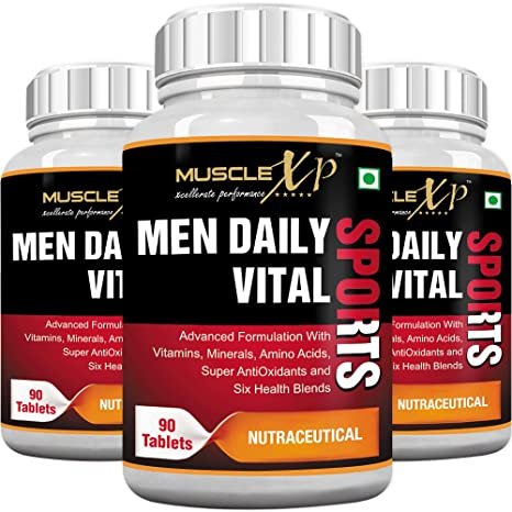 Musclexp Men Daily Vital Sports Multivitamin   90 Tablets  Pack Of 3