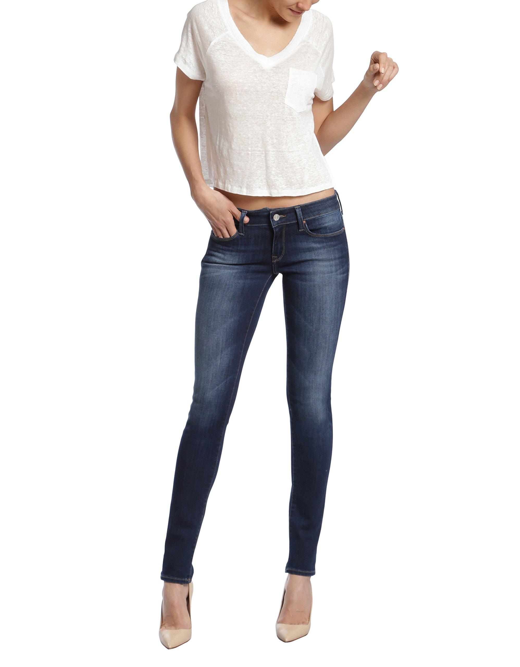 Mavi Jeans Women's Adriana Mid Rise Super Skinny, Indigo Tribeca, 27/32