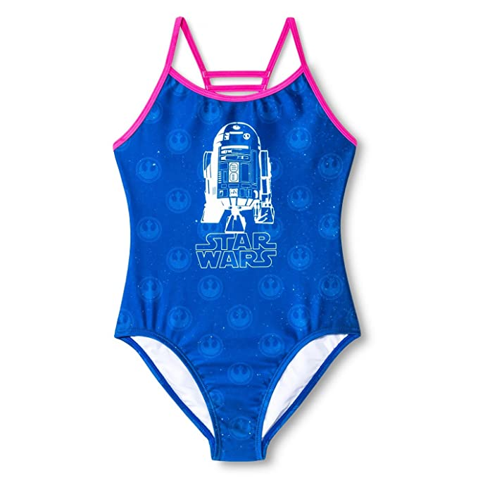13d7fa82f5 Image Unavailable. Image not available for. Color  Girls  Star Wars R2D2  1pc Swimsuit ...