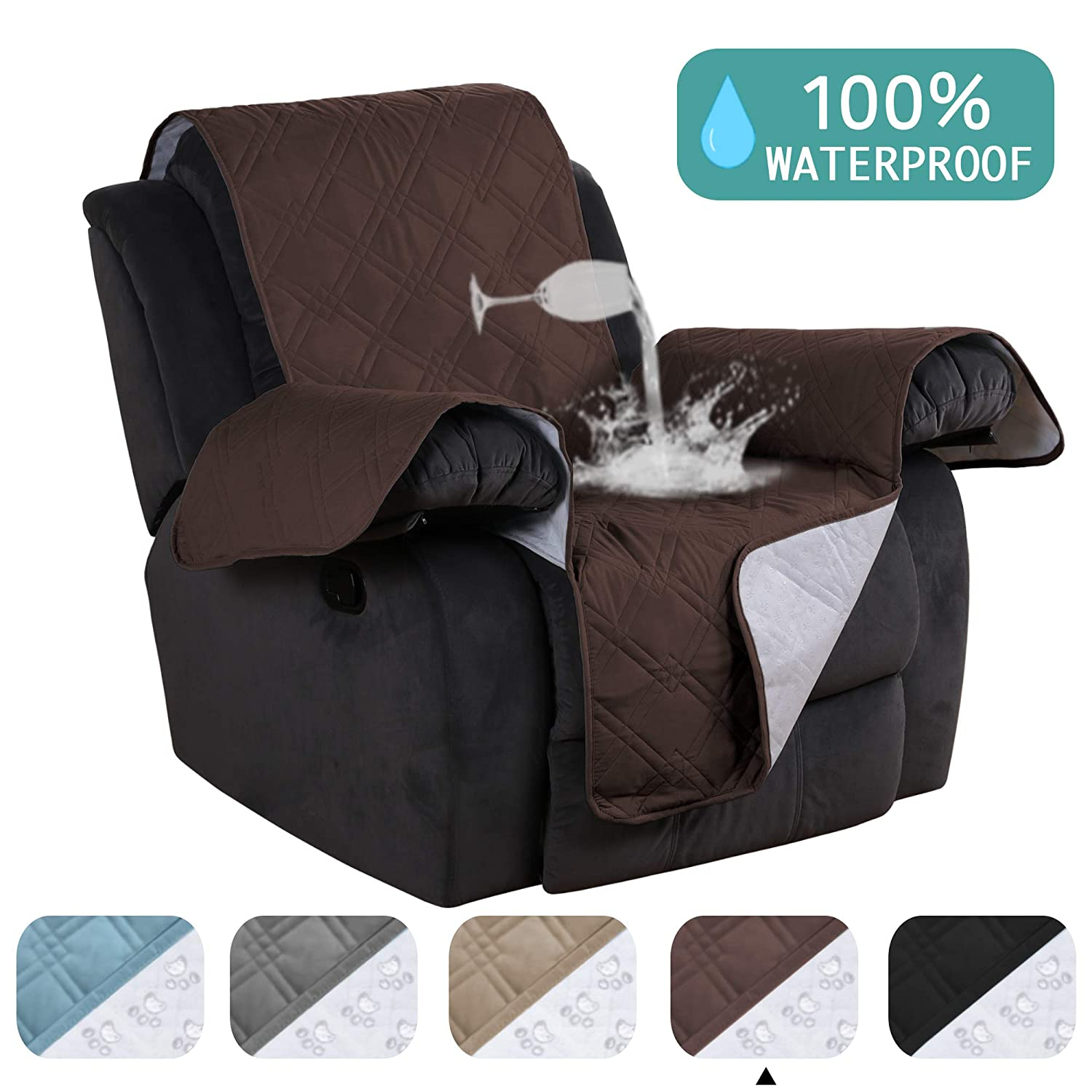 Prime Waterproof Furniture Protectors For Recliners Covers Non Slip Furniture Cover For Chair Cover Brown Quilted Sofa Cover Stay In Place Stapless Small Pabps2019 Chair Design Images Pabps2019Com
