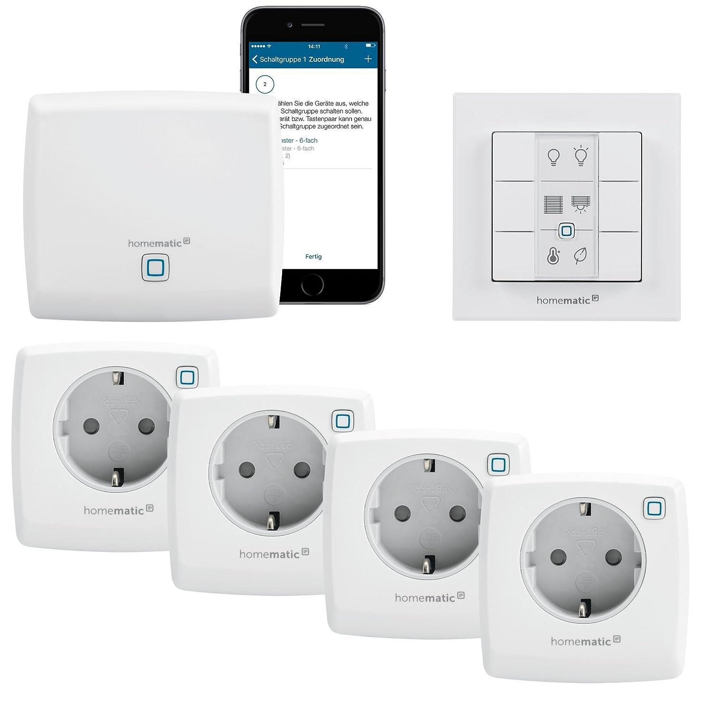 Homematic Ip Smart Home Starter Kit Steckdosen Mit Amazon De