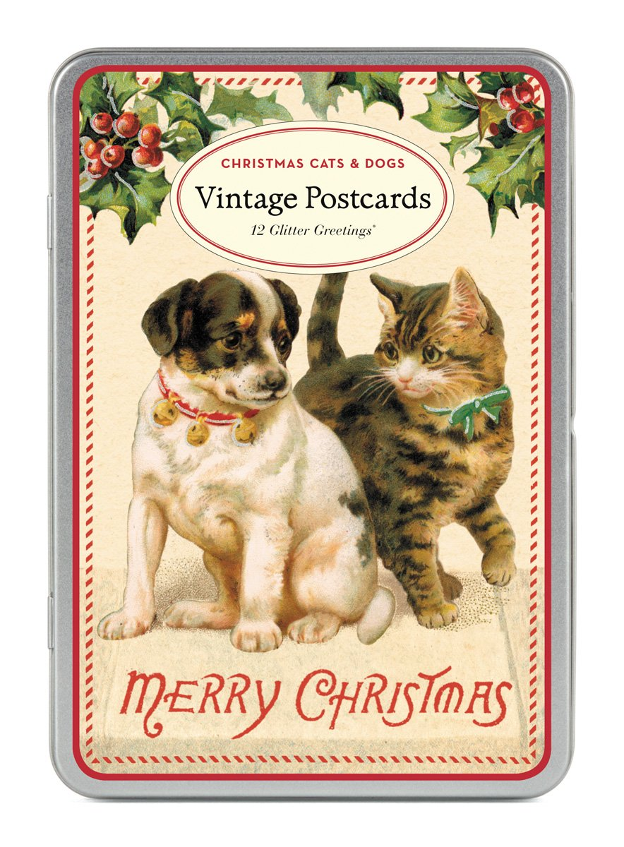 Amazon Cavallini Papers Christmas Cats And Dogs Glitter