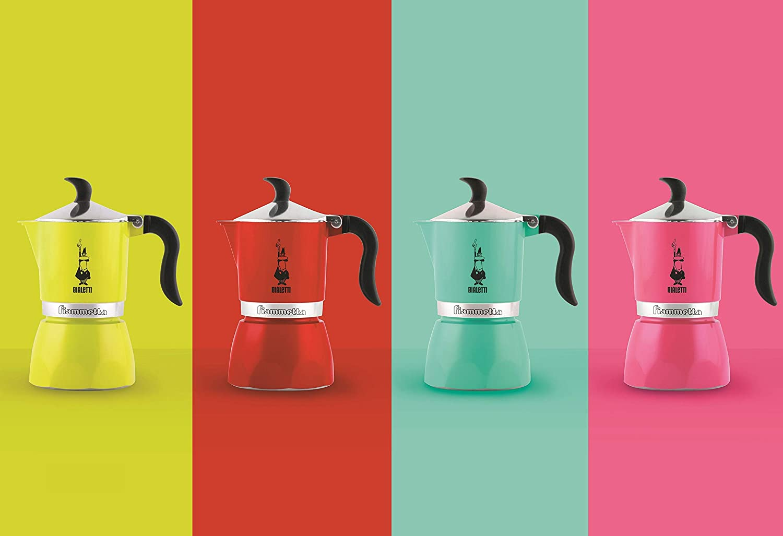 Bialetti Fiammetta Rojo - Cafeteras italianas (Rojo, 3 tazas, Aluminio, Fiammetta, 1 pieza(s), 6 pieza(s)): Amazon.es: Hogar
