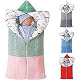 DYJD Baby Sleeping Sack Soft Thick Fleece Warm Strollers Wrap Blanket Sleeping Pram Bag for 0-12 Month Newly Born Boys…