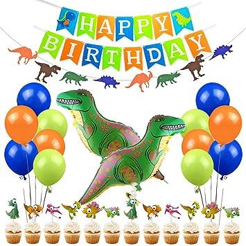 Juego de decoración de la Fiesta de Dinosaurio Little Dino ...