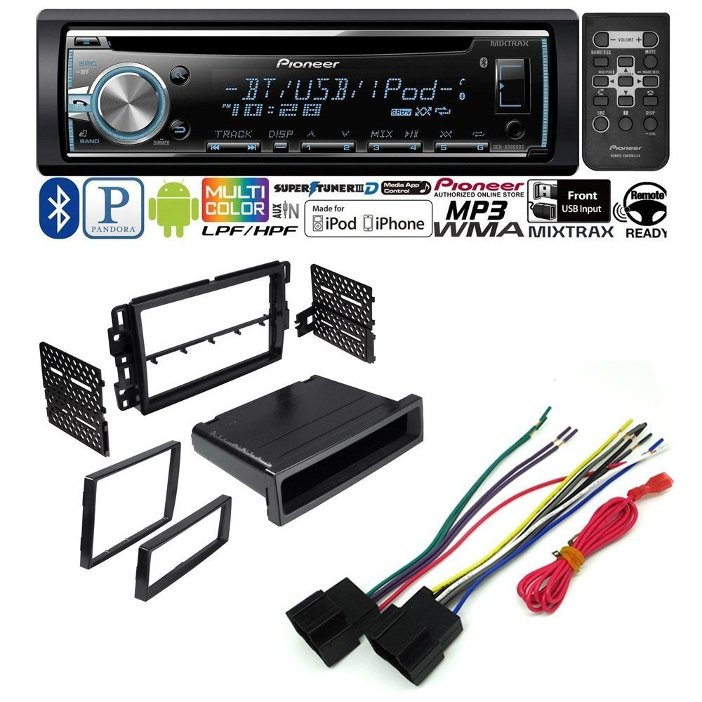 CAR CD STEREO RECEIVER DASH INSTALL MOUNTING KIT + WIRE HARNESS + RADIO ANTENNA ADAPTER+ BUICK CHEVROLET GMC HUMMER PONTIAC SATURN SUZUKI 2006 - 2013