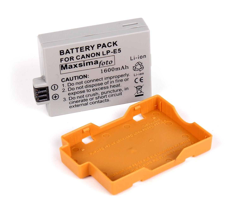 Maxsima - LP-E5, batería 1600mAh para Canon 450D 500D 1000D: Amazon.es: Electrónica