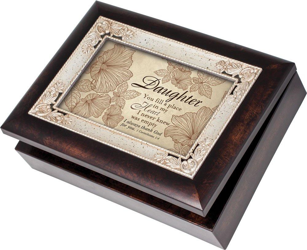 驚きの安さ Daughter Burlwood with Silver Jewelry B00BRXCGZQ Inlay Italian Box Style Jewelry Music Box Plays Tune Amazing Grace by Cottage Garden B00BRXCGZQ, 釣具のレインドロップス:46a82379 --- arcego.dominiotemporario.com