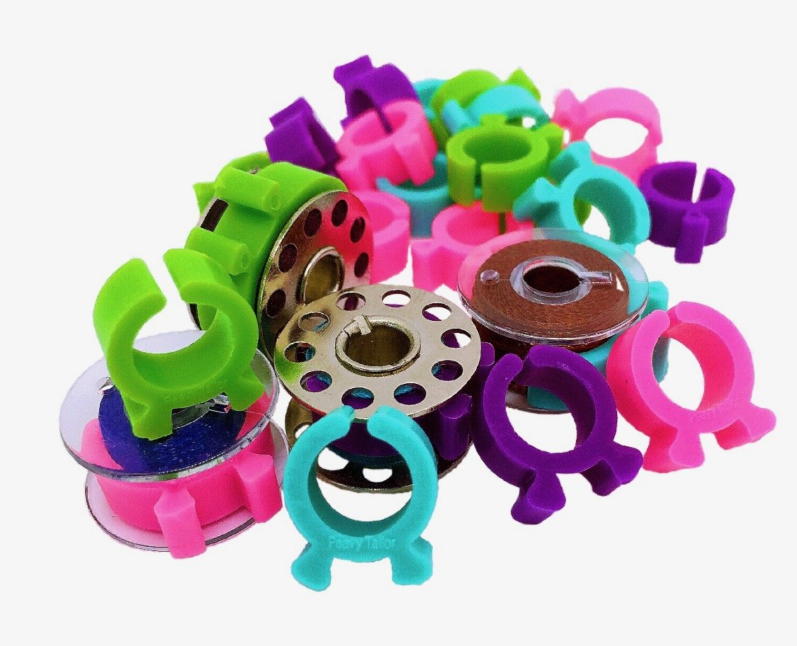 PeavyTailor Bobbin Buddies 24pcs Bobbin Holder Clamps for Embroidery Quilting Sewing Thread #12