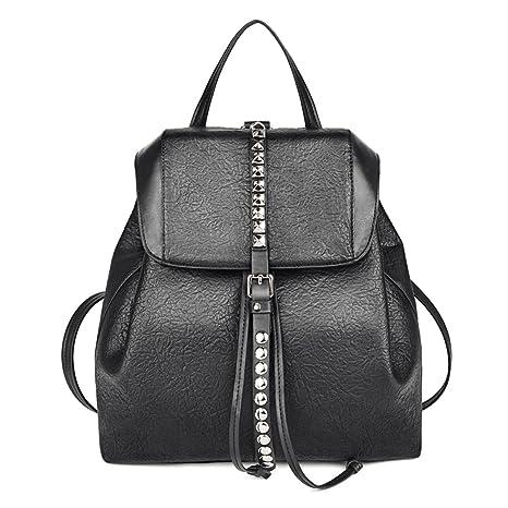 8e7bf9e058 Coofit Zaino Donna Elegante Casual Borsa Classic Daypack Multifunzione Nero