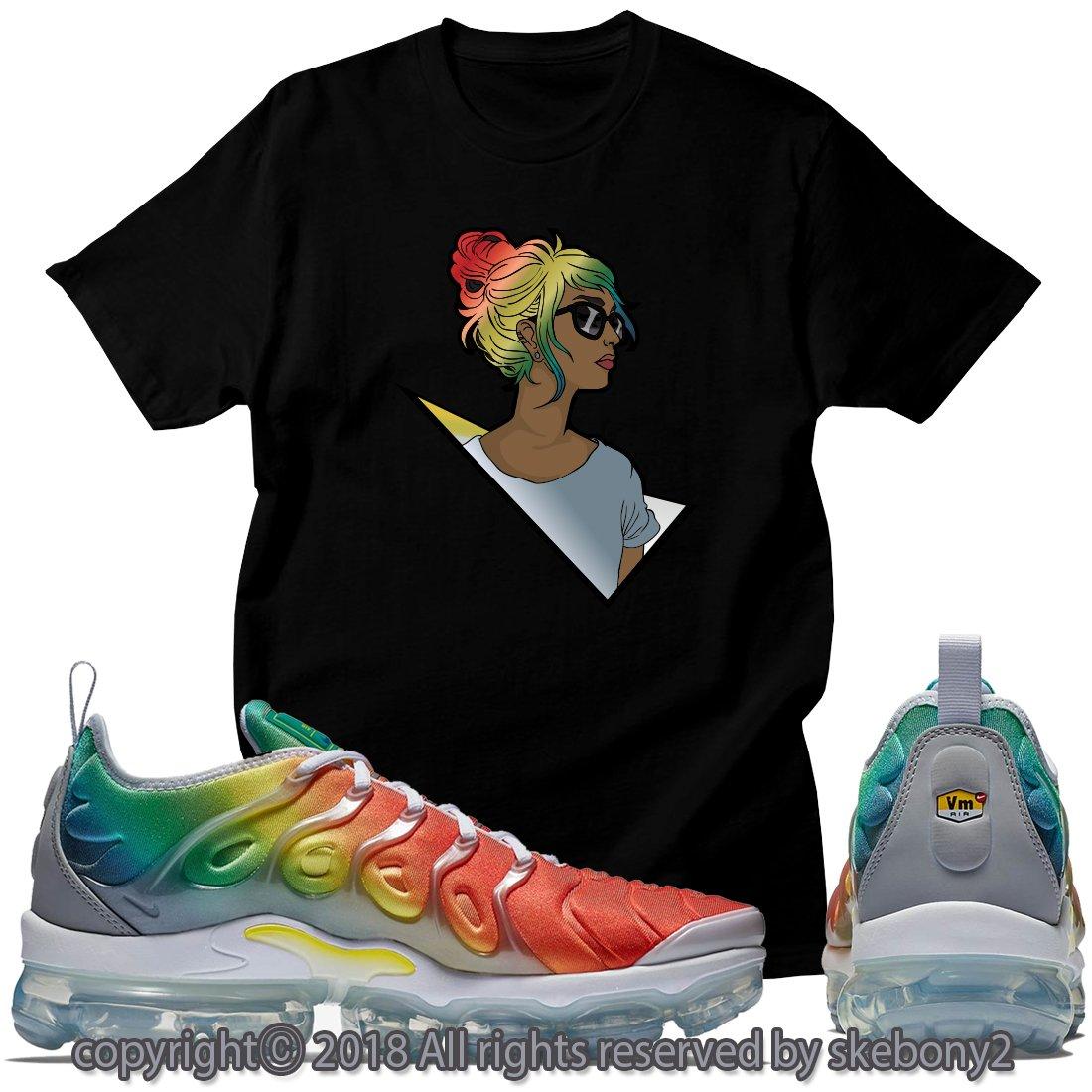 e380d0bc1d Custom T Shirt Matching Nike AIR Vapormax Plus Rainbow AVP 1-46-2 at Amazon  Men's Clothing store: