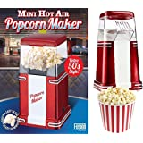 RETRO 50's STYLE ELECTRIC FAT FREE HOT AIR POPCORN MAKER MACHINE POPPER 1200W PARTY - APPROVED BY FUSION FOOD CARE by Express trading