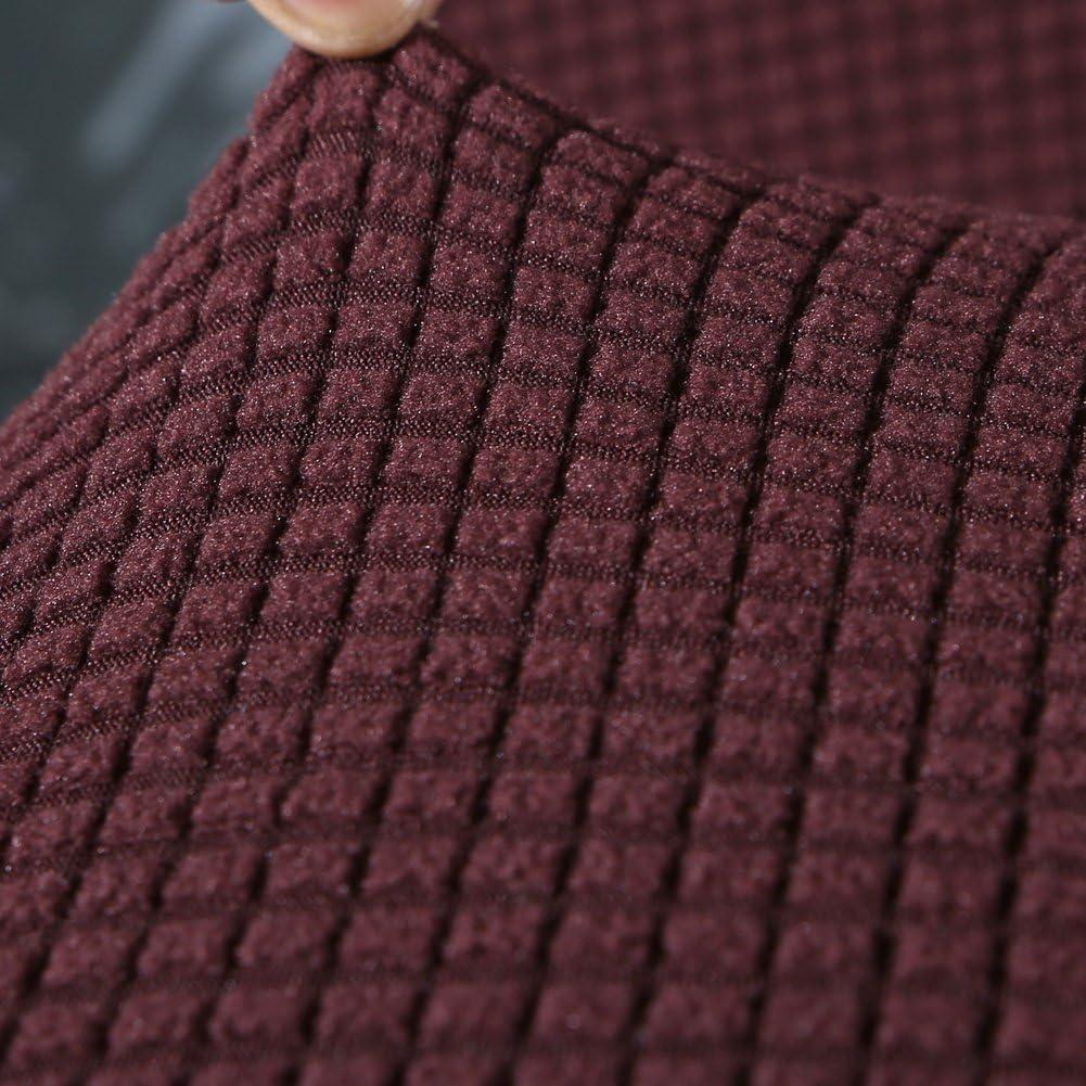 Fundas de Licra para sillas Altas 4//6 Piezas Fundas Protectoras para sillas Extra/íbles y Lavables 4 Piezas//Paquete, Marr/ón YISUN Fundas de Silla de Comedor El/ásticas y Modernas
