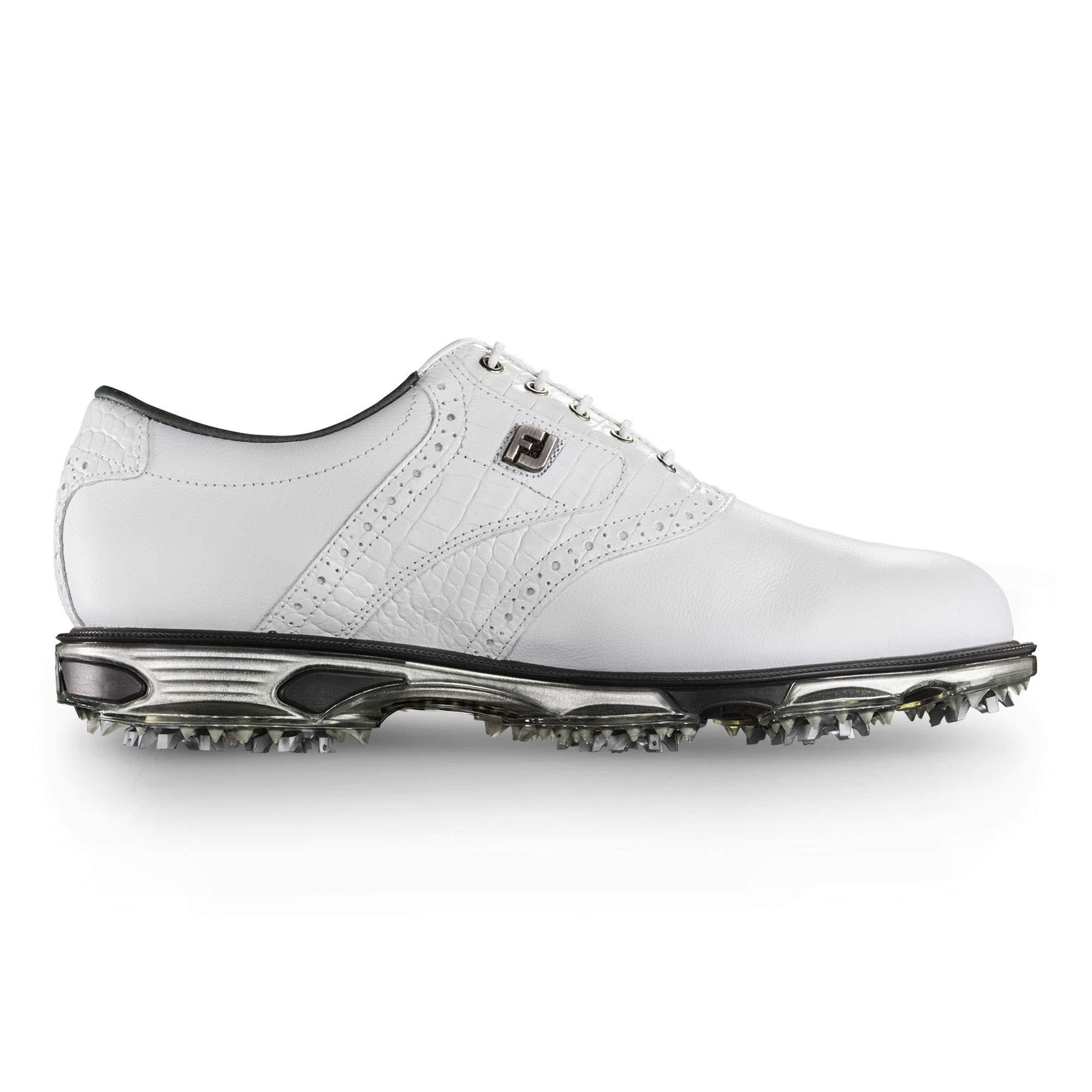 FootJoy Men's DryJoys Tour Golf Shoes, White/White Croc, 11.5 M US by FootJoy