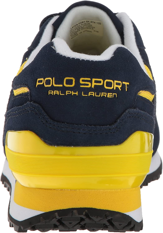 Polo Ralph Lauren Pony Slaton Zapatilla de Deporte de Moda - Azul ...
