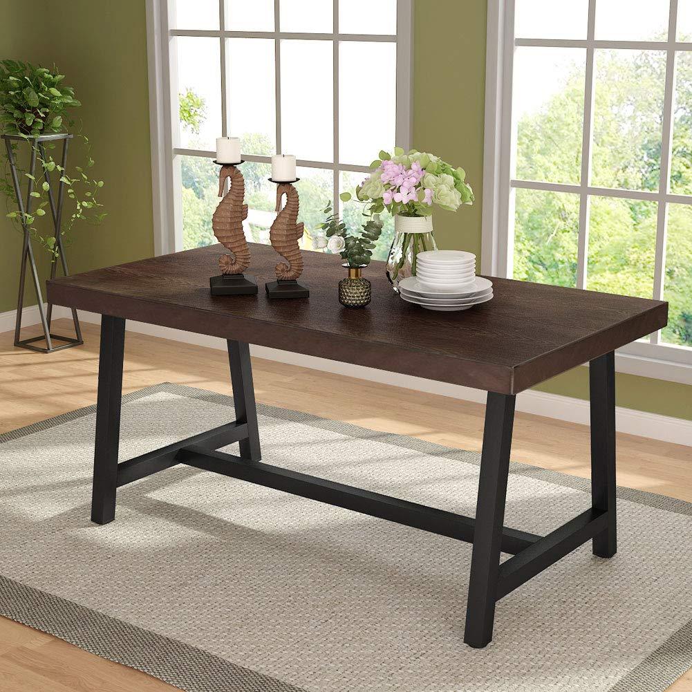 Amazon.com: Tribesigns Mesa de comedor para exteriores, mesa ...