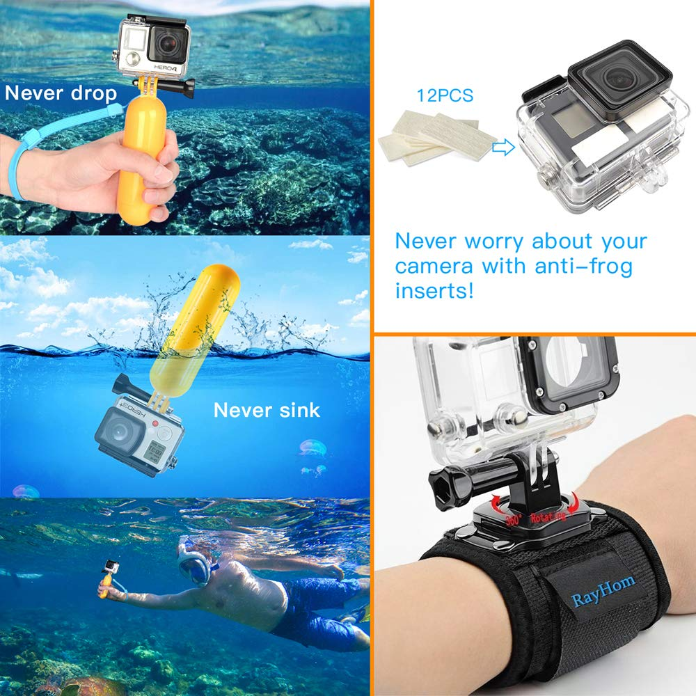 3 2 1 Hero Session 5 Black Accessory Bundle Set for GoPro 2018 Session//Fusion Black Silver DBPOWER AKASO APEMAN YI Campark SJ4000 Rayhom Action Camera Accessories Kit 53-In-1 for GoPro Hero 7 6 5 4 3