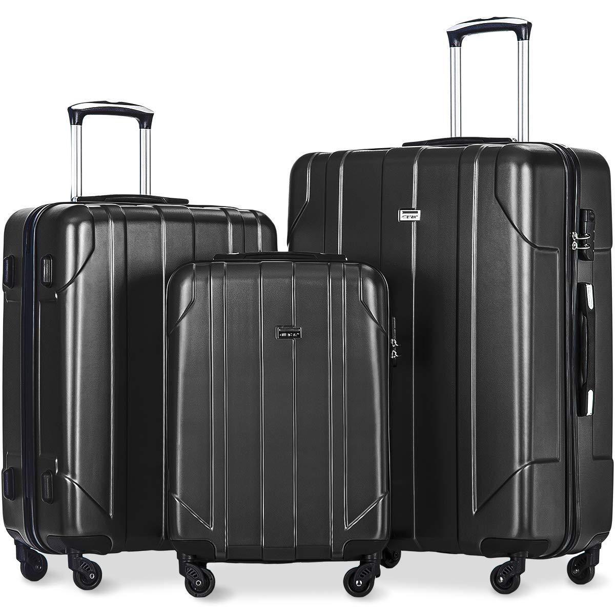 14b197555320 Merax Luggage 3 Piece Sets Lightweight Spinner Suitcase 20