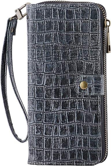 Vintage Men Women Leather Purse Crocodile Pattern Cash Card Wallet Coin Holder