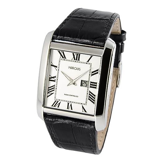 Elegante Marquis 964.4716 - Reloj de) (Junghans de hombre correa de piel pulsera con cierre de acero inoxidable, carcasa de acero inoxidable 964.4909: ...