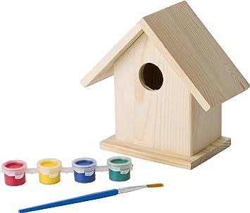 eBuyGB - Kit de Manualidades para jardín, diseño de casa de pájaros, Color Natural: Amazon.es: Juguetes y juegos