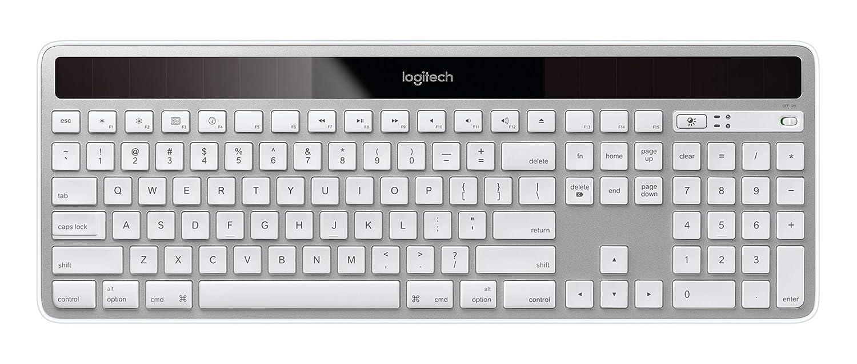 ffd9ea85442 Amazon.com: Logitech K750 Wireless Solar Keyboard for Mac — Solar  Recharging, Mac-Friendly Keyboard, 2.4GHz Wireless - Silver: Electronics