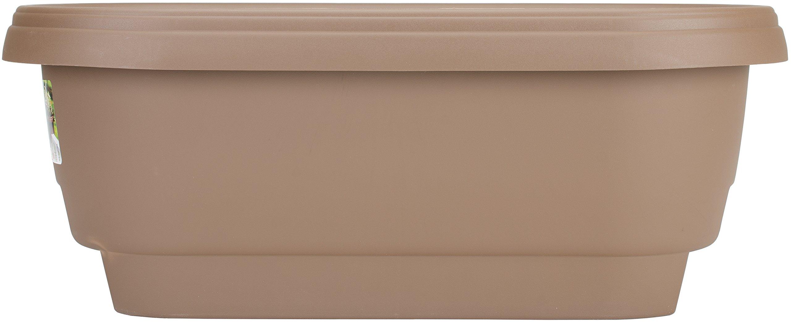 Bloem Deck Balcony Rail Planter 24'' Chocolate