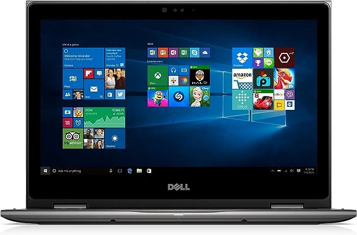 """Dell i5368-0502GRY 13.3"""" FHD 2-in-1 Laptop (Intel Core i3-6100U 2.3GHz Processor, 4 GB RAM, 500 GB HDD, Windows 10) Gray (Renewed)"""