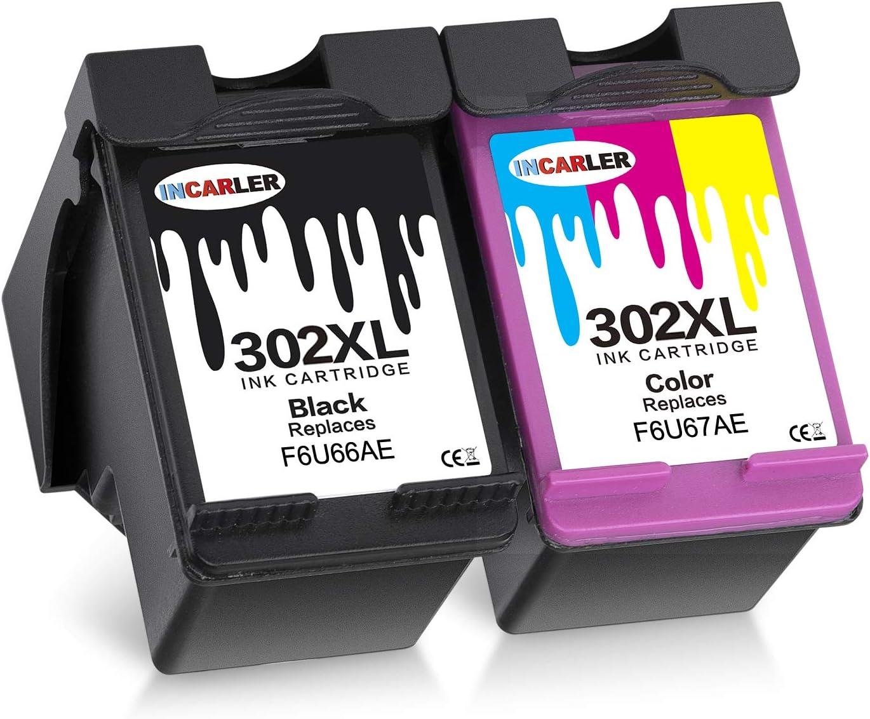 Incarler 302XL Remanufacturado Cartuchos de Tinta Compatible con ...