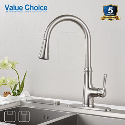 Kitchen faucet pull down sprayer wewe a1008l stainless steel sink kitchen faucet pull down sprayer wewe a1008l stainless steel sink faucets single handle high arc solutioingenieria Gallery