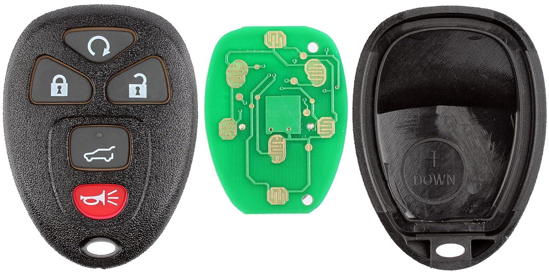 KeylessOption Keyless Entry Remote Control Car Key Fob Replacement 15913415 Red