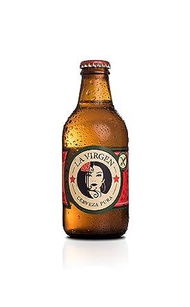 La Virgen Cerveza Artesana Madrid Lager sin Gluten - 24 Botellas de 250 ml - Total: 6000 ml