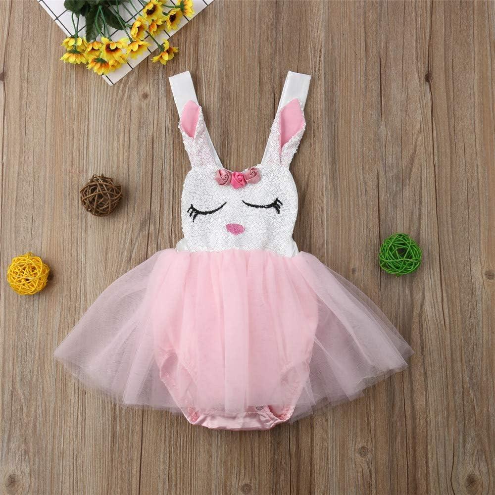 Wang-RX Recién Nacido Infantil del Bebé Niñas Conejo Mamelucos de ...