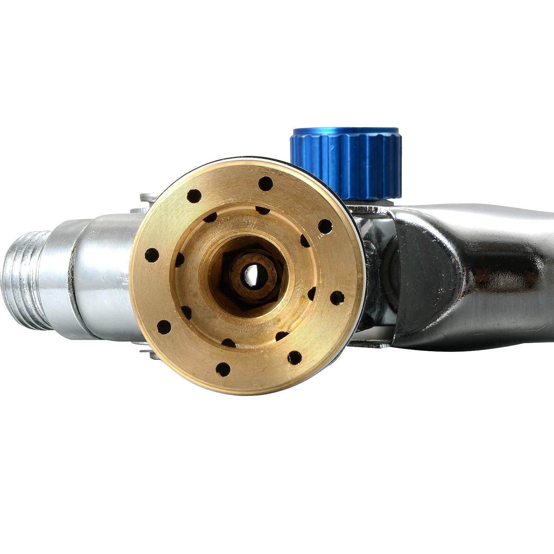 Voilamart pistolet /à peinture HVLP Pistolet de Pulv/érisation dAir Gravity Feed Peinture Pulv/érisateur Air Brush Set Acier inoxydable 1,4MM 1,7MM 2,0MM Buse Auto Peinture de D/étail de Voiture